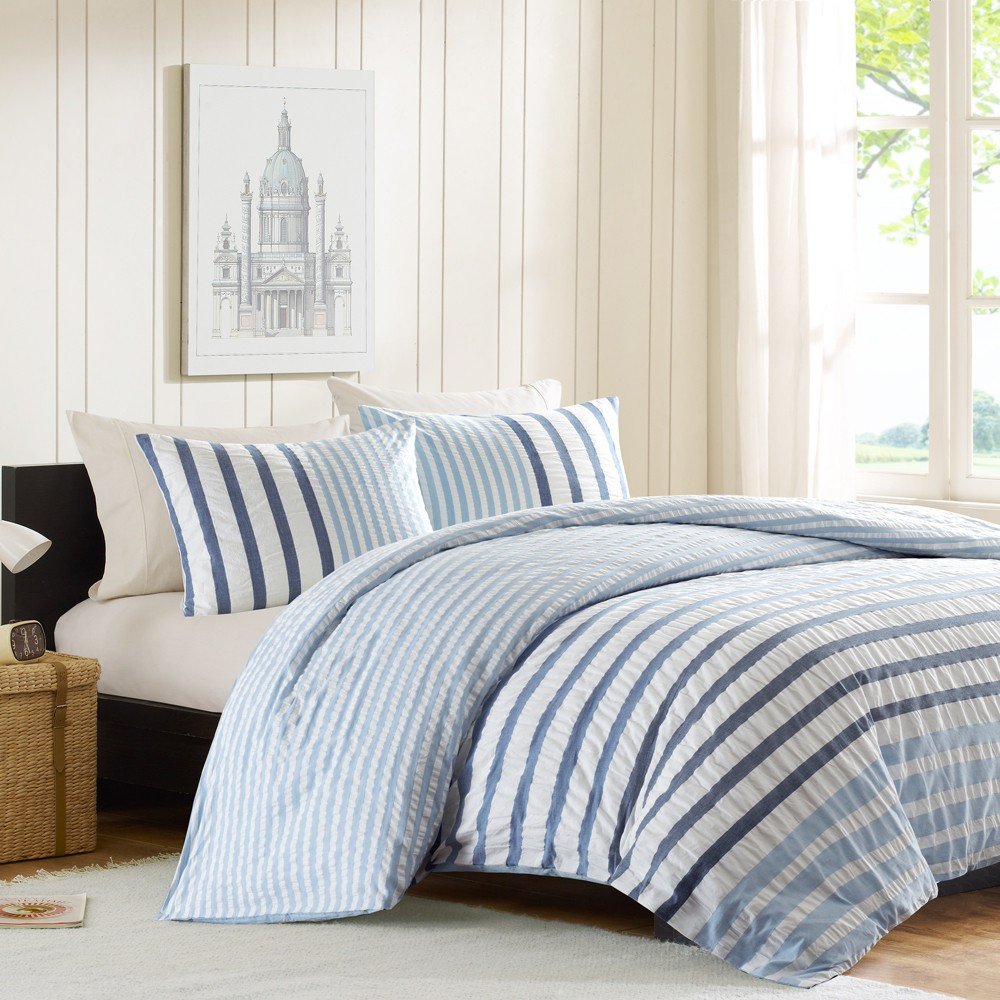 3pc Full/Queen Sutton Duvet Cover Set Blue