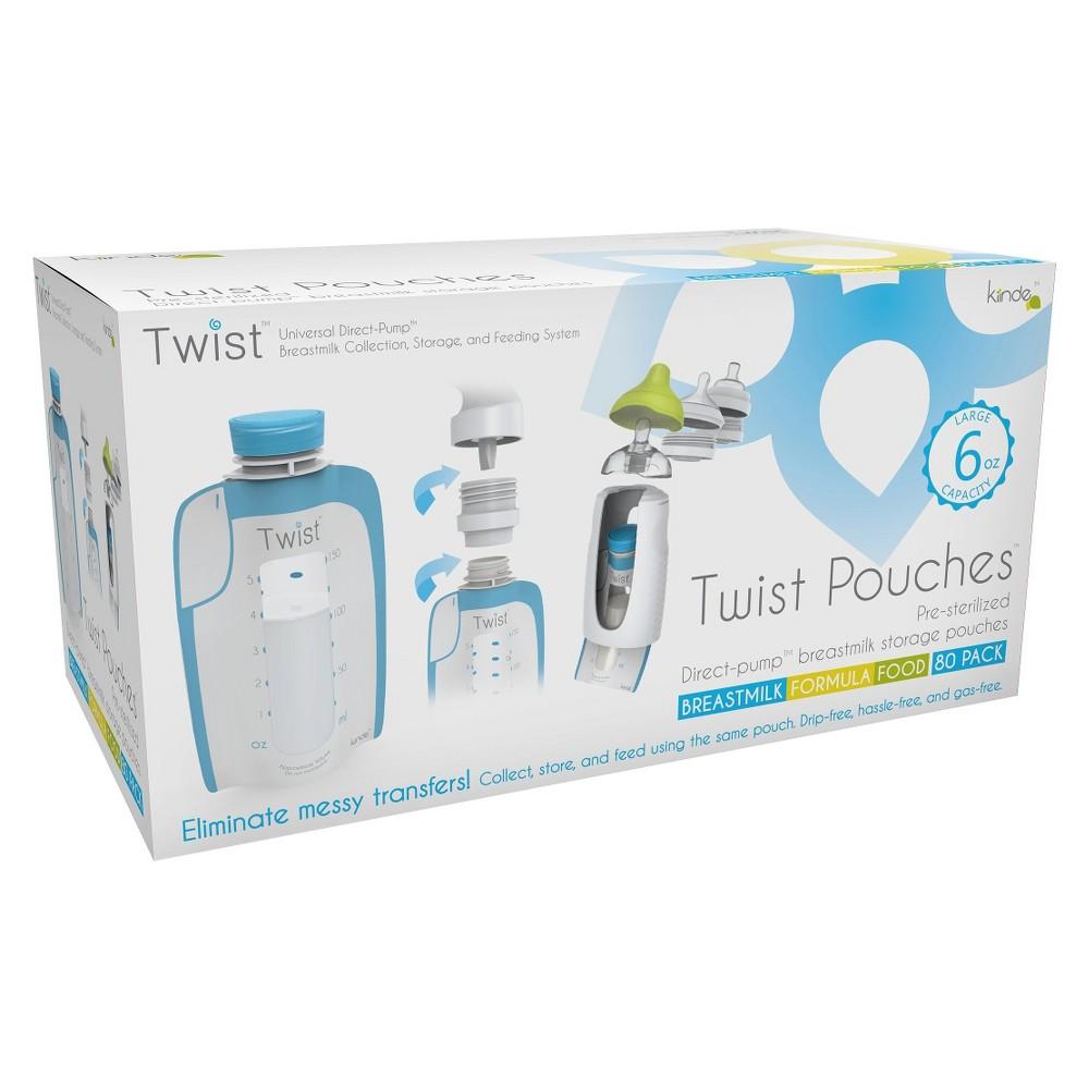 Image of Kiinde Twist 80ct Milk Storage Pouch, Clear