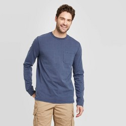 Men's Standard Fit Long Sleeve Crew Neck T-Shirt - Goodfellow & Co™