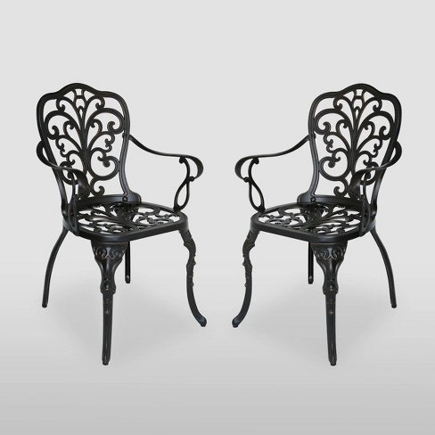 Viga 2pk Cast Aluminum Dining Chair - Shiny Copper - Christopher Knight Home - image 1 of 4