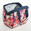 Fit & Fresh Charlotte Lunch Tote - Navy & Pink Tropical Blooms - image 3 of 3