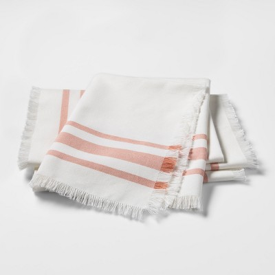 Coral Stripe Kitchen Textile Napkins - Threshold™