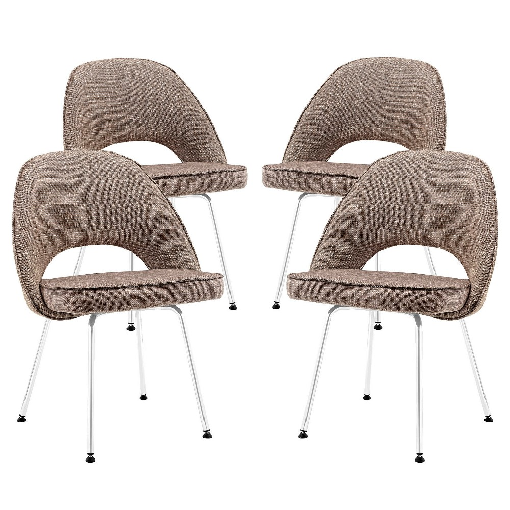 Cordelia Dining Chairs Set of 4 Oatmeal Heather - Modway