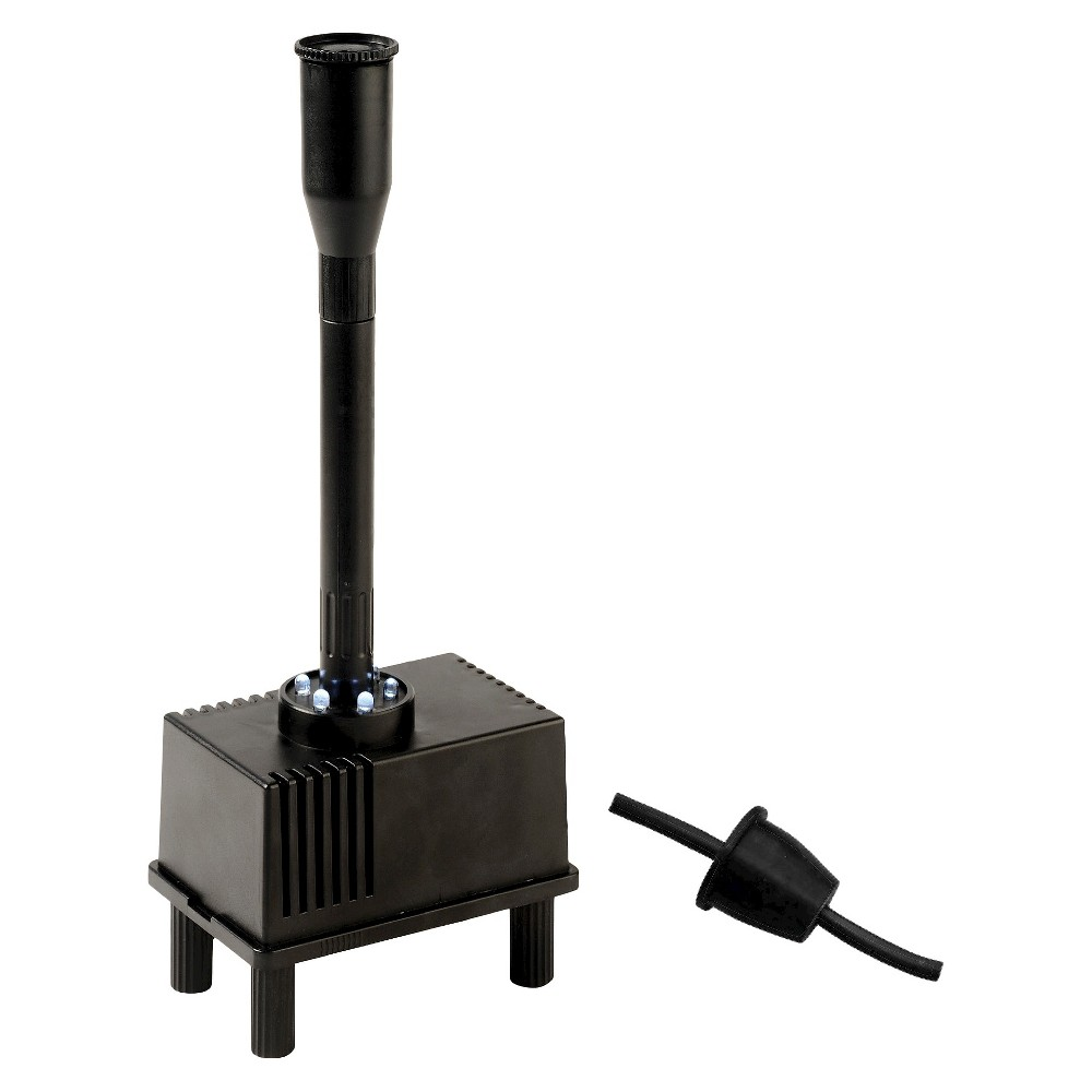 "Image of ""3.78"""" Pond Boss Container Fountain Kit with Light, Black"""