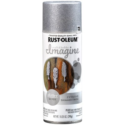 Rust-Oleum 10.25oz Imagine Glitter Spray Paint Silver