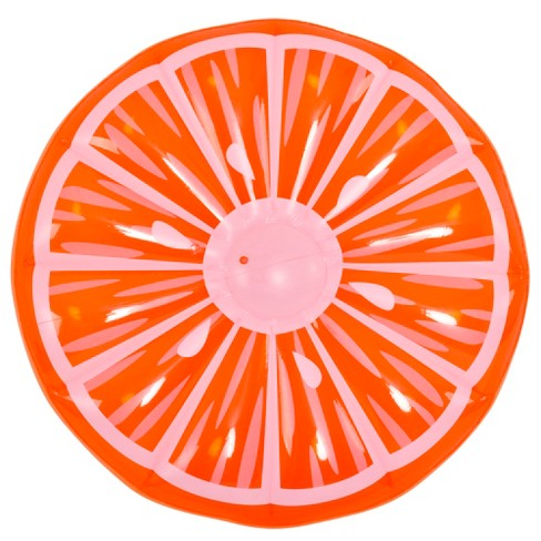 "Pool Central 58"" Inflatable Jumbo Orange Slice 1-Person Swimming Pool Island Float - Orange/White - image 1 of 2"