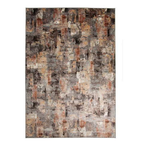 Abacasa Sonoma Harlan Pink-Grey-Ivory-Multi-color 5x8 Area Rug - Sam's International - image 1 of 3