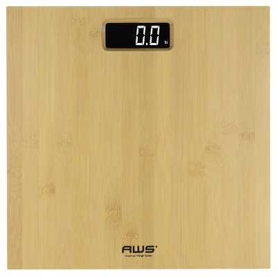 Bamboo LCD Platform Bathroom Scale - American Weigh Scales