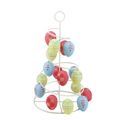 "Northlight 14.25"" Floral Cut-Out Spring Easter Egg Tree Decoration - Yellow/Pink - image 1 of 1"