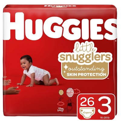 Huggies Little Snugglers Diapers Jumbo Pack - Size 3 (26ct)