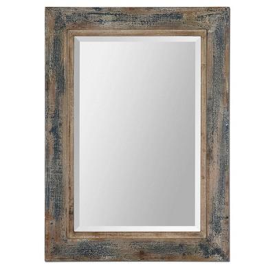 "30""x20"" Rectangle Bozeman Decorative Wall Mirror Distressed Blue - Uttermost"