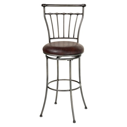 "Topeka 30"" Barstool Metal/Silver - Fashion Bed Group - image 1 of 5"