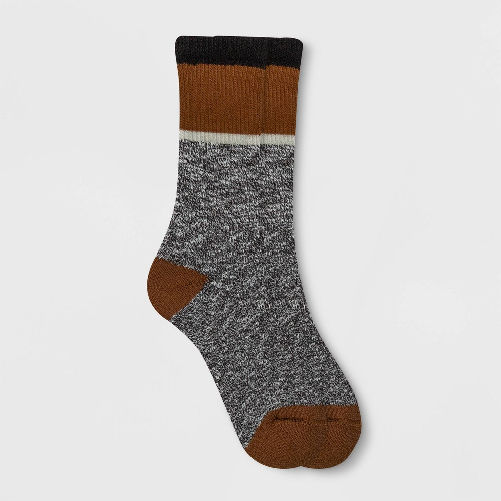 Image of Alaska Knits Women's Colorblock Wool Blend Crew Boot Socks - Black 4-10, Women's, Size: Small