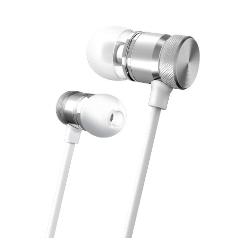 Merkury Innovations Wireless Magnetic Aluminum Earbuds - White/Silver - image 1 of 1