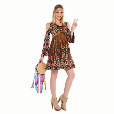 Adult Flower Power Hippie Halloween Costume