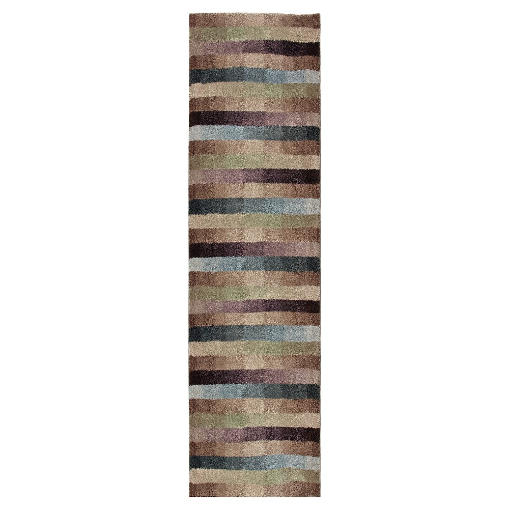 Stripe Woven Runner - (2'3X8' Runner) - Orian, Multicolored