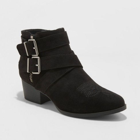 Women's Belle-Ann Microsuede Buckle Heeled Fashion Bootie - Universal Thread™ - image 1 of 3