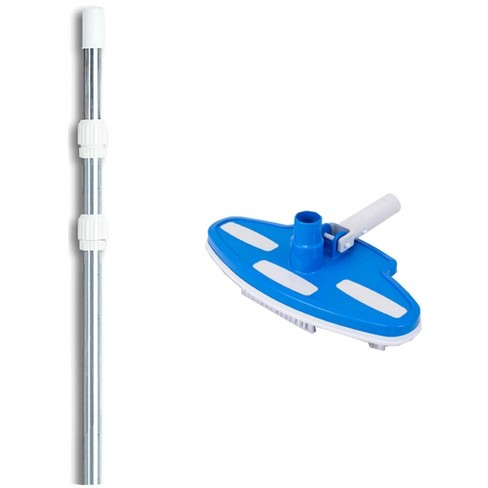 Pentair R201350 193 Pool Vinyl Liner Vacuum Head Brush w/ 4'-12' Telescopic Pole - image 1 of 3