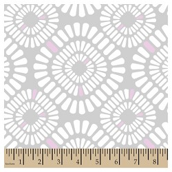 Grace Geo Gray Minky Fabric