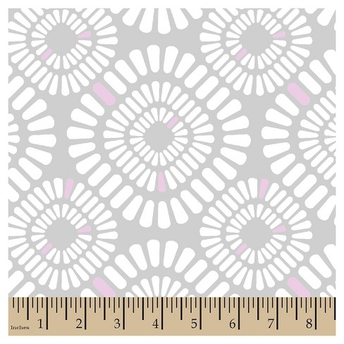 Grace Geo Gray Minky Fabric - image 1 of 1
