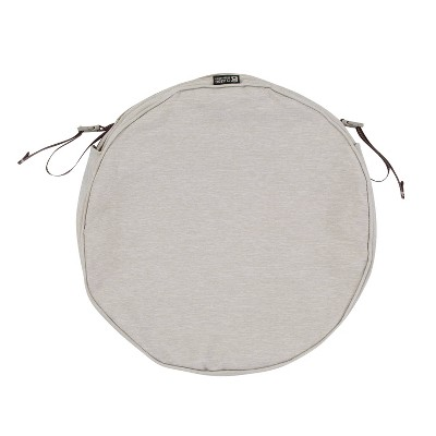 Montlake Water-Resistant Round Patio Chair Seat Cushion Slip Cover - Classic Accessories