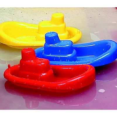 Dantoy Tugboat Toys, Assorted Colors, set of 3