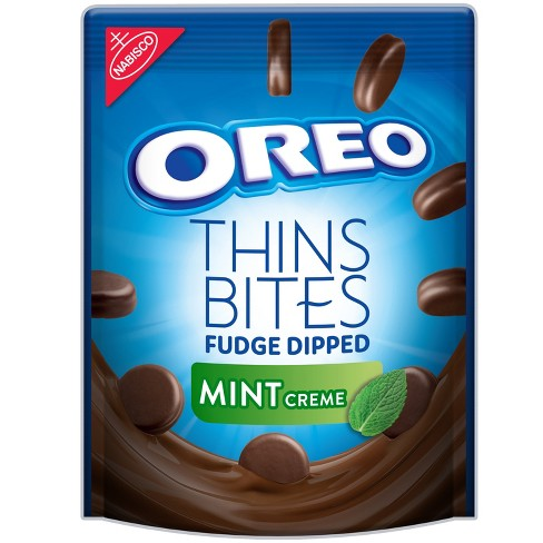 Oreo Thin Bites Fudge Dipped Mint Crème Sandwich Cookies - 6oz - image 1 of 2