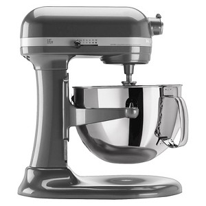 KitchenAid Professional 600 Series 6-Quart Bowl-Lift Stand Mixer - KP26M1X, White Grey
