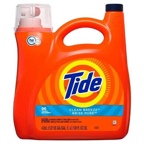 Tide Clean Breeze High Efficiency Liquid Laundry Detergent - image 1 of 4