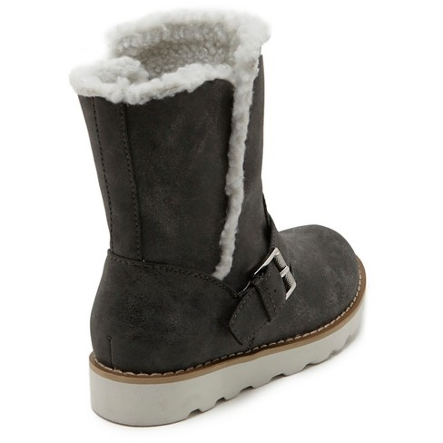 e63dc9d15733 Girls  Revel Devin Faux Fur Lined Motto Boots - Gray 2   Target