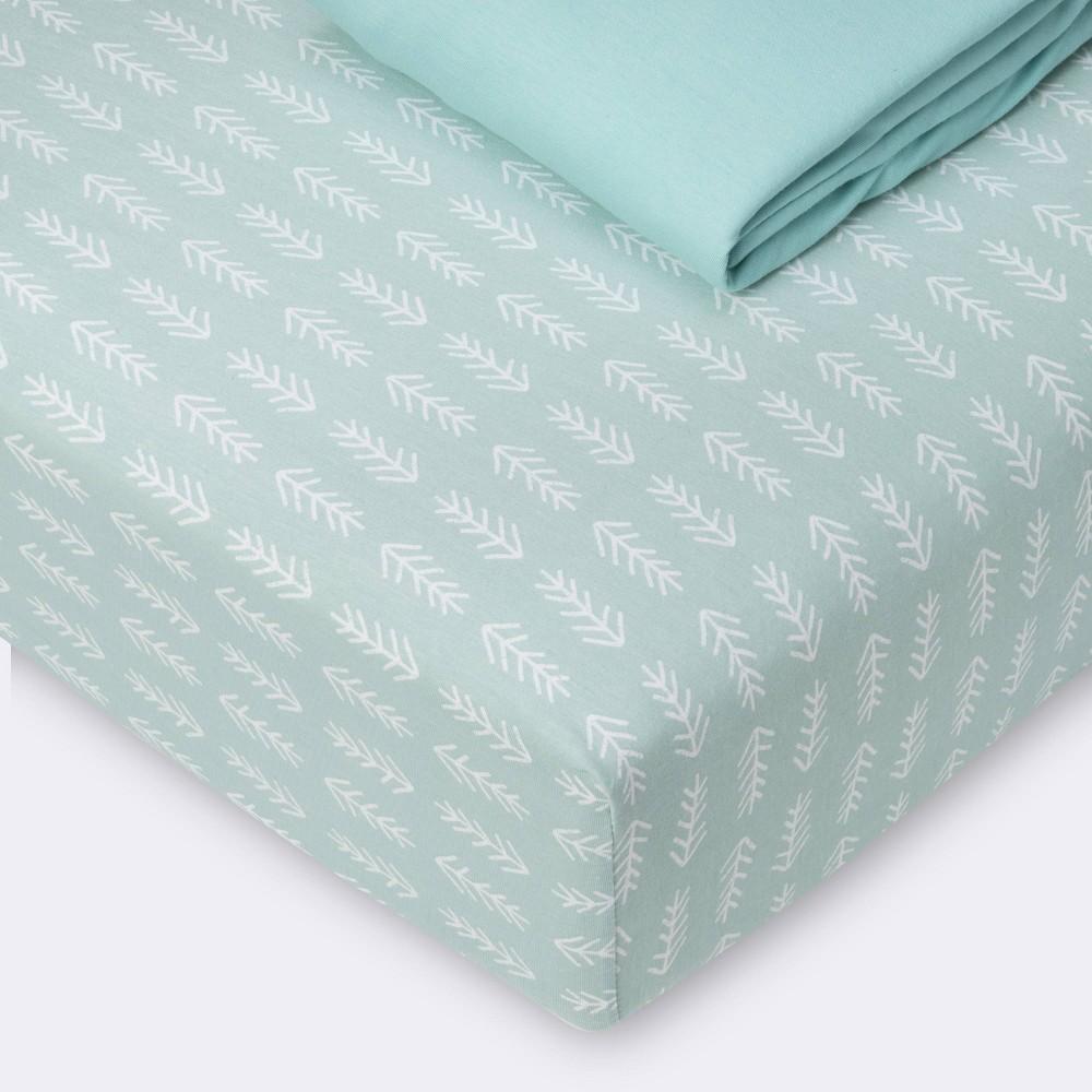 Fitted Crib Sheet Jersey Sheet Cloud Island 8482 Arrows Mint 2pk