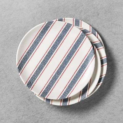 4pk Dinner Plate Melamine Americana Blue Stripe - Hearth & Hand™ with Magnolia