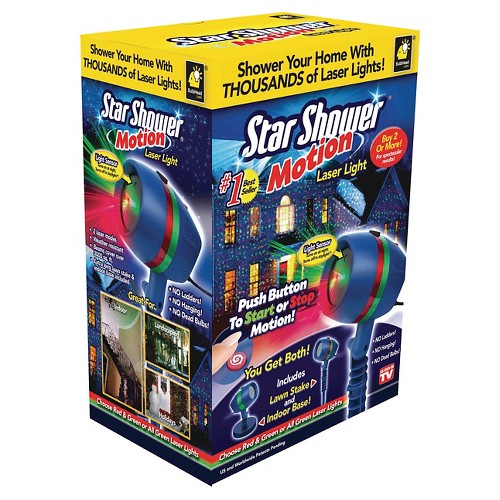 As Seen on TV Star Shower Motion Laser Led Light Projector, Multi-Colored