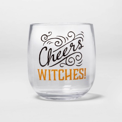 """Cheers Witches"" Halloween Stemless Wine Glass - Hyde & EEK! Boutique™"