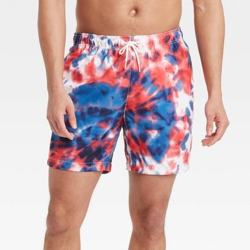 "Men's 7"" Americana Swim Trunks - White - image 1 of 3"