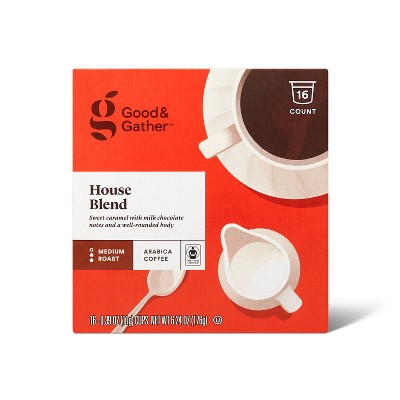 House Blend Medium Roast Coffee - 16ct Single Serve Pods - Good & Gather™