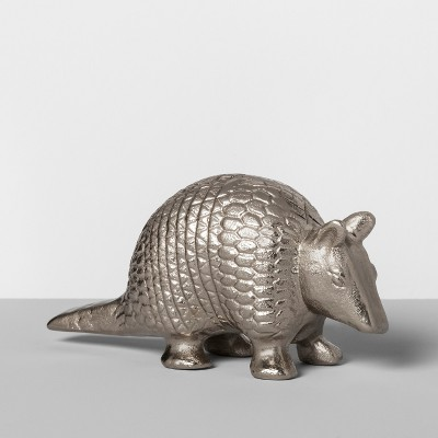 Metal Armadillo Figurine Silver - Opalhouse™