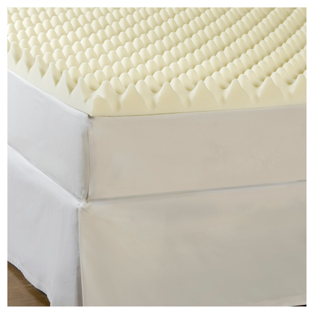 "Image of ""ComforPedic Loft from Beautyrest 3""""Big Bump Memory Foam Topper - White (Cal King), Size: California King"""