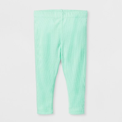 Baby Girls' Leggings - Cat & Jack™ Green 0-3 M