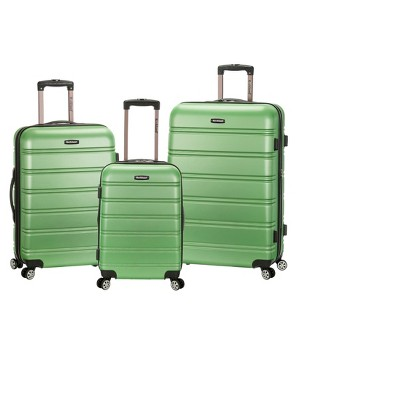 Rockland Melbourne 3pc ABS Luggage Set - Green