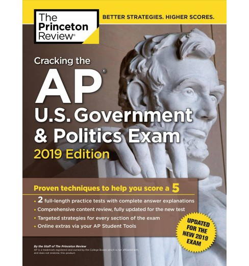 Princeton Review Cracking the AP U.S. Government & Politics Exam 2019 -  Updated (Paperback) - image 1 of 1