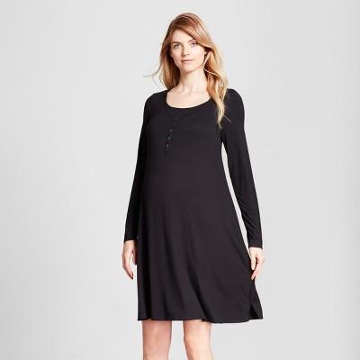 Maternity Nursing Nightgown - Isabel Maternity by Ingrid & Isabel™ Black S