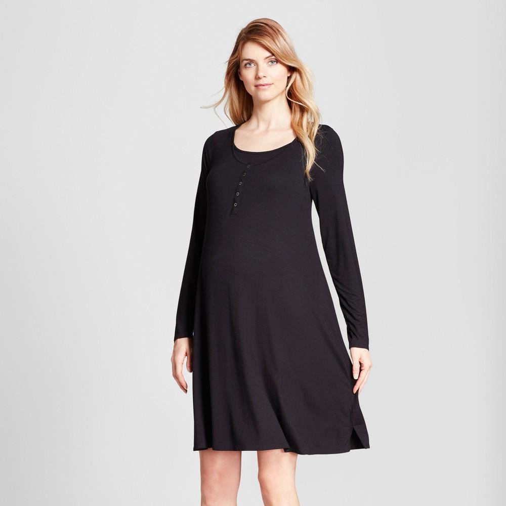 Maternity Nursing Nightgown - Isabel Maternity by Ingrid & Isabel Black XL, Infant Girl's