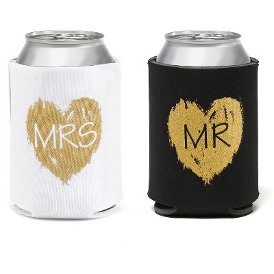 2ct Mr.'& 'Mrs.' Beverage cozy