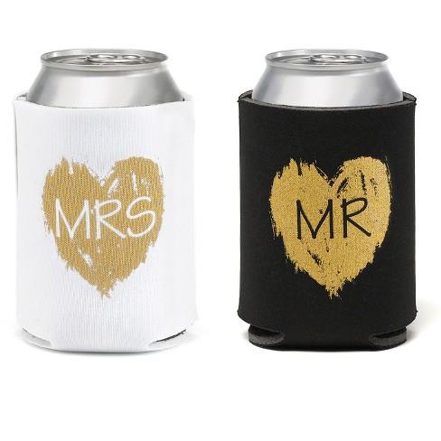 2ct Mr.'& 'Mrs.' Beverage cozy - image 1 of 1