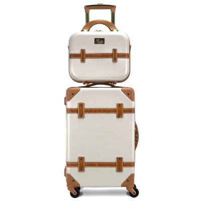 Chariot Travelware CH-505 2pc Luggage Set - Ivory