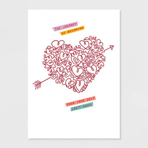 True Self Valentine's Day Greeting Card - image 1 of 4
