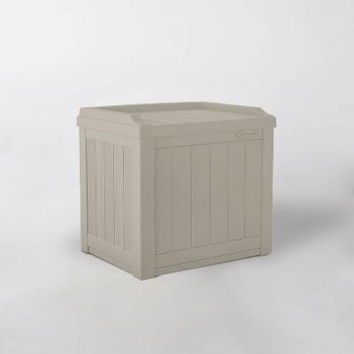 22gal Resin Storage Seat Taupe - Suncast