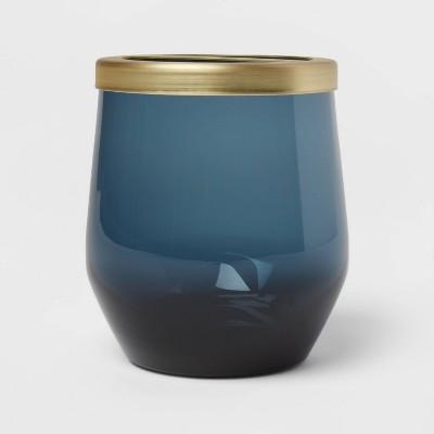 Smokey Glass Toothbrush Holder Blue - Threshold™