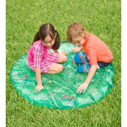 Round AquaPod with Pretend Fish for Kids Backyard Water Play - HearthSong - image 1 of 2
